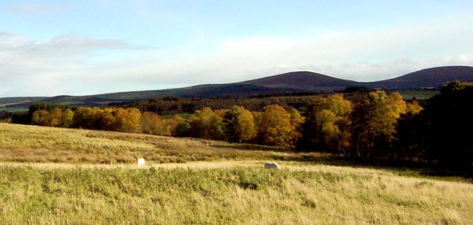 The Conval hills from Tombreck Farm in autumn